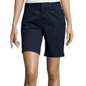 Stylus™ Boyfriend Twill Bermuda Shorts - Petite