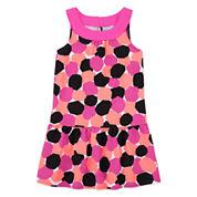 Okie Dokie® Print Yoke Dress - Preschool Girls 4-6x