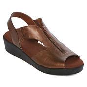 St. John's Bay® Sabina Strap Comfort Wedge Sandals - Wide Width