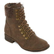 2 Lips Too Too Folsom Womens Combat Boots