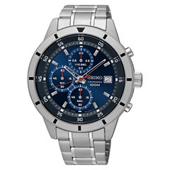 Seiko Mens Silver Tone Bracelet Watch-Sks559