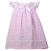 Bonnie Jean short sleeve flutter sleeve eyelet dress  - Baby Girls