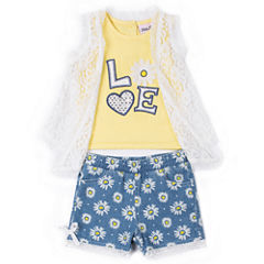 Little Lass 2-pc. Short Set Girls
