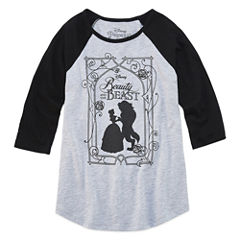 Hybrid Beauty and the Beast Graphic T-Shirt-Big Kid Girls