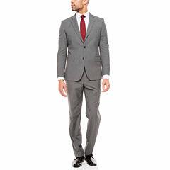 JF J. Ferrar Texture Stretch Charcoal Suit Separates- Slim Fit