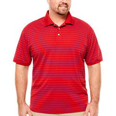 The Foundry Big & Tall Supply Co. Short Sleeve Stripe Knit Polo Shirt Big and Tall
