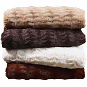 Cathay Home Faux Fur Reversible Blanket