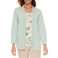 Alfred Dunner Ladies Who Lunch 3/4 Sleeve Layered Sweaters