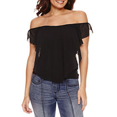 Bisou Bisou Ruffle Off Shoulder Top