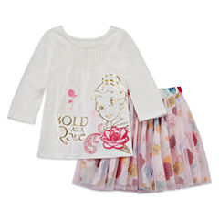 Disney 2-pc. Beauty and the Beast Skirt Set Toddler Girls