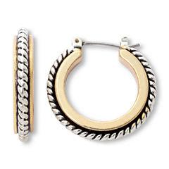 Mixit Two-Tone Hoop Earrings