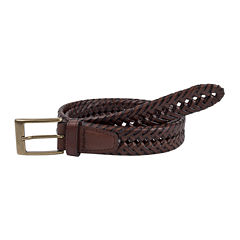 Dockers® Brown Leather V-Weave Belt