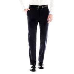 JF J. Ferrar Navy Variegated Stripe Suit Pants - Slim-Fit