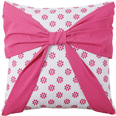VCNY Amanda Square Bow Decorative Pillow