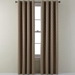 Studio Luna Grommet Top Lined Textured Blackout Curtain Panel
