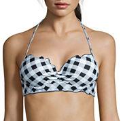 Arizona® Gingham It Up Midkini Swim Top - Juniors
