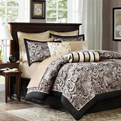Madison Park Wellington 12-pc. Complete Bedding Set with Sheets