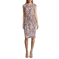 Connected Apparel Sleeveless Dots Sheath Dress