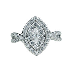 Modern Bride Signature Womens 1 CT. T.W. Marquise White Diamond 14K Gold Engagement Ring