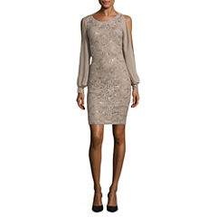 Scarlett Long Sleeve Sheath Dress-Talls