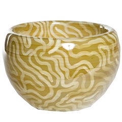 Knox And Harrison Hand-Blown Glass Decorative Bowl