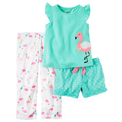Carter's 3-pc. Kids Pajama Set Girls
