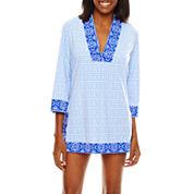 Liz Claiborne® Lasercut Over-the-Shoulder Maillot One-Piece Swimsuit or Coverup