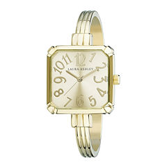 Laura Ashley Womens Gold Tone Bangle Watch-LA31024YG