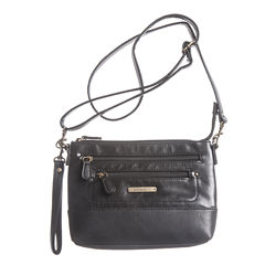 Stone Mountain 3-Bagger Plugged-In Charger Leather Crossbody Bag
