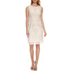 Liz Claiborne Sleeveless Lace Sheath Dress