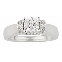 tw certified diamond solitaire plus ring - Jcpenney Rings Weddings
