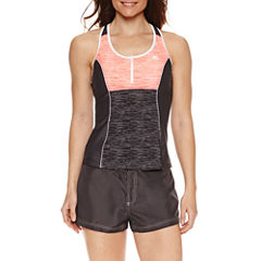 ZeroXposur® Heather Stripe Tankini or Board Short
