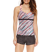 ZeroXposur® Diagonal Stripe Tankini or Board Short