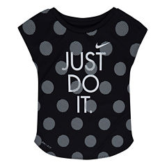Nike Short Sleeve T-Shirt-Toddler Girls