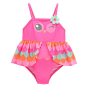Solid One Piece Swimsuit-Toddler