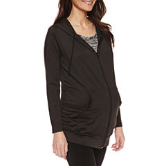 Long Sleeve Knit Hoodie Maternity