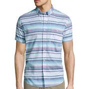 Arizona Short-Sleeve Stripe Woven Shirt