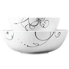 Tabletops Gallery® Pescara 2-pc. Porcelain Serving Bowl Set