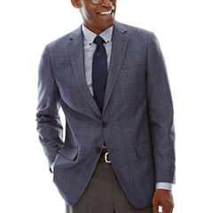 Claiborne® Linen-Look Check Sport Coat - Classic Fit