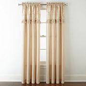Royal Velvet® Encore Leaf Embroidery Rod-Pocket Curtain Panel
