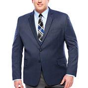 Stafford Yearround Blue Tic Sport Coat-Big and Tall