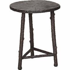 Cast Aluminum Chairside Table