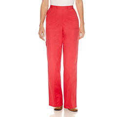 Alfred Dunner Tropical Vibe Woven Flat Front Pants