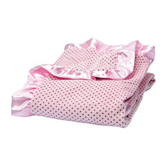 Trend Lab® Pink Polka Dot Velour Blanket