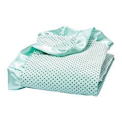 Trend Lab® Mint Polka Dot Velour Blanket