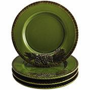 BonJour® Sierra Pine Set of 4 Salad Plates