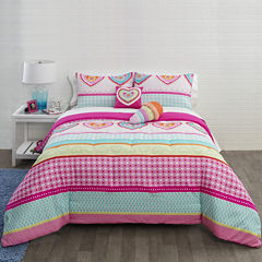JCPenney Home™ Hearts and Stripes Comforter Set