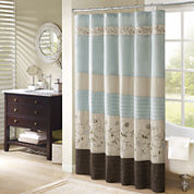 Madison Park Davenport Embroidered Shower Curtain