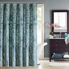 Windsor Cotton Paisley Shower Curtain