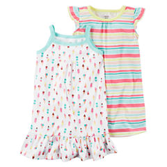 Carter's 2pk Gown Set-Preschool Girls